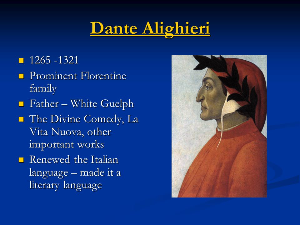 a comparison of the divine comedy and dante alighieris other works All cited references to the works of dante are based on the  the divine comedy of dante  to cite freccero's comparison of dante's poem to.