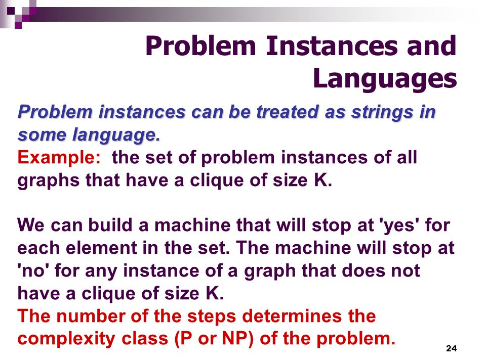 Problem Instances and Languages
