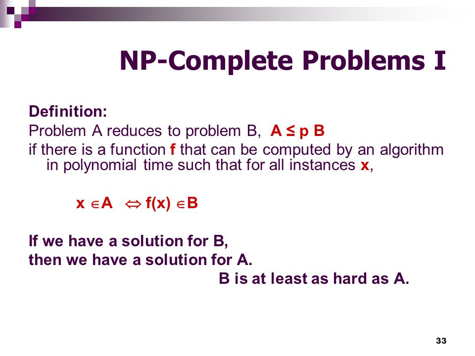 NP-Complete Problems I
