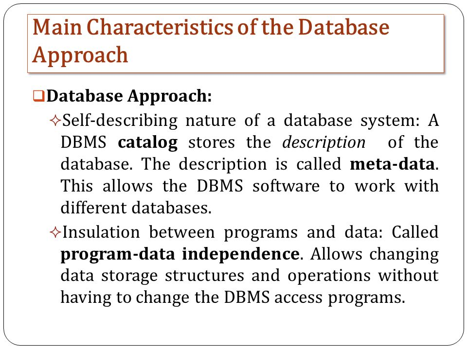 the characteristics of biological databases a data storage system The characteristics of biological databases, a data storage system pages 2 words 1,612 view full essay more essays like this: bilogical databases, data storage.