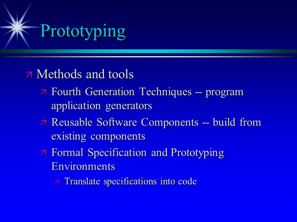 Prototyping Methods and tools