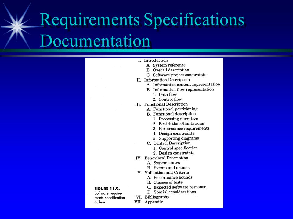 Requirements Specifications Documentation