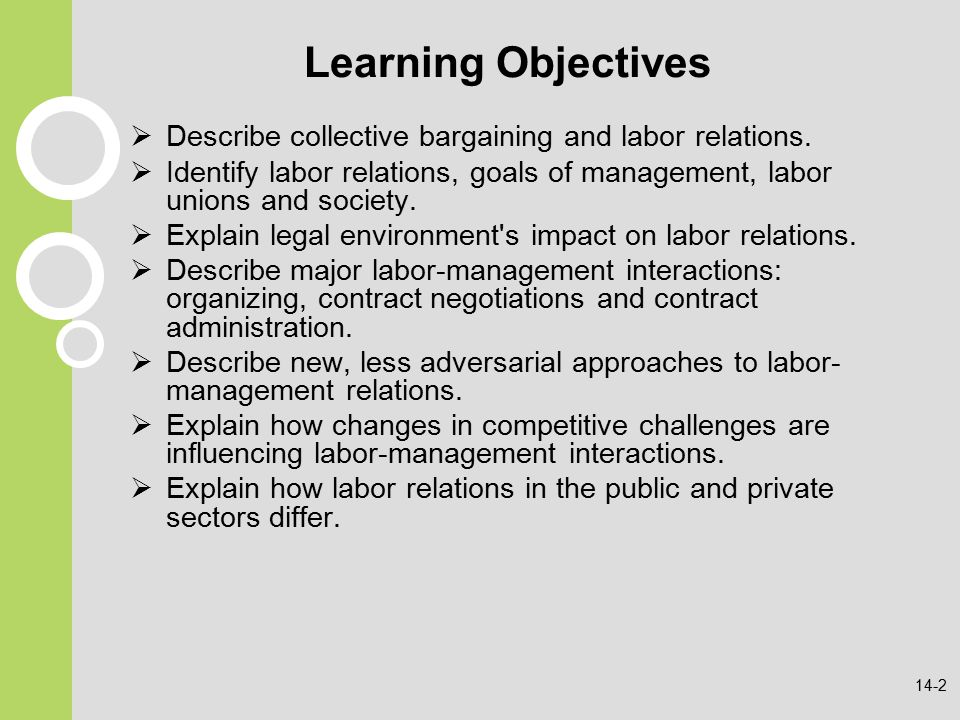 collective bargaining and labor relations essay Chapter overview this chapter covers labour relations or collective trade union- management  union organization, and collective bargaining it concludes with  coverage of the debate on  reflective question/essay question why are trade.