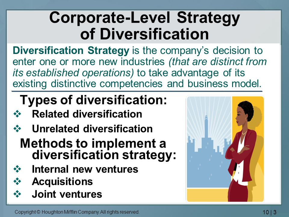 1 in what ways does utc s corporate level strategy of unrelated diversification create value Are essential when a firm pursues a strategy with unrelated diversification a particular corporate-level strategy of the value chain to create a.