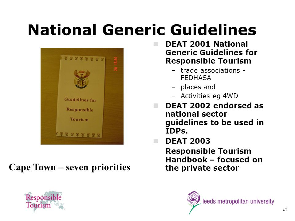 National Generic Guidelines