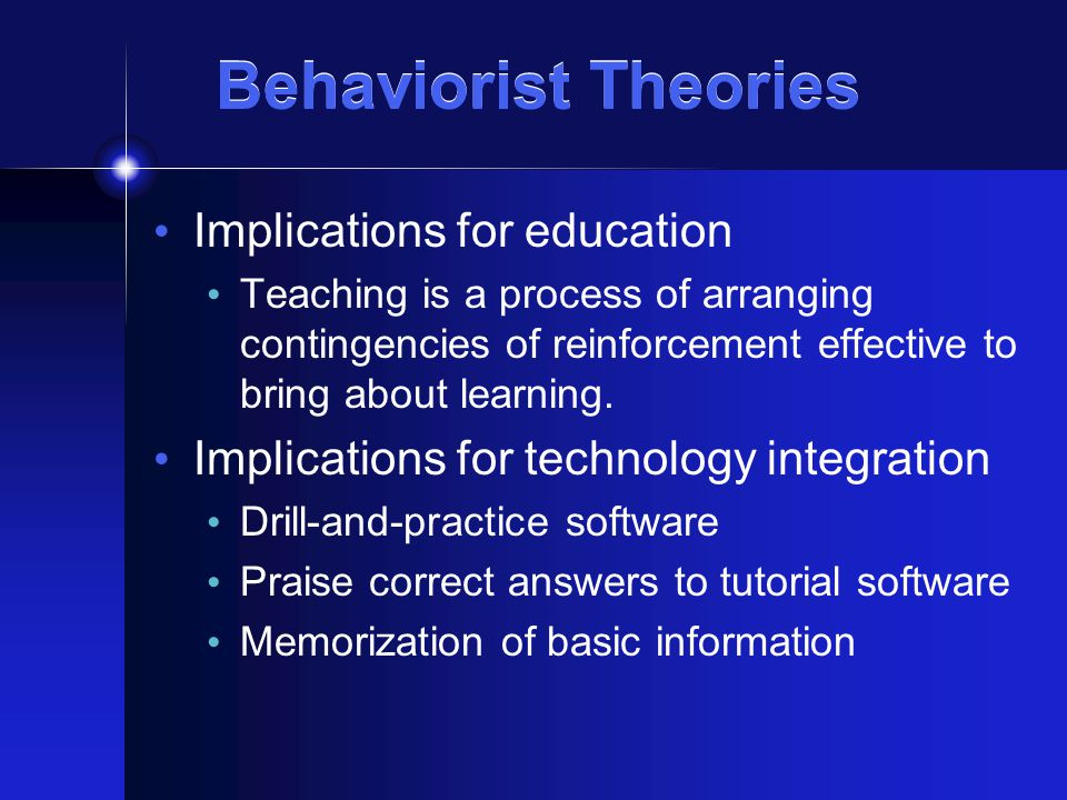the behaviourist and cognitive approaches to In education, behaviourist approaches emphasise changing behaviour through rewarding  behaviourism vs constructivism in psychology.