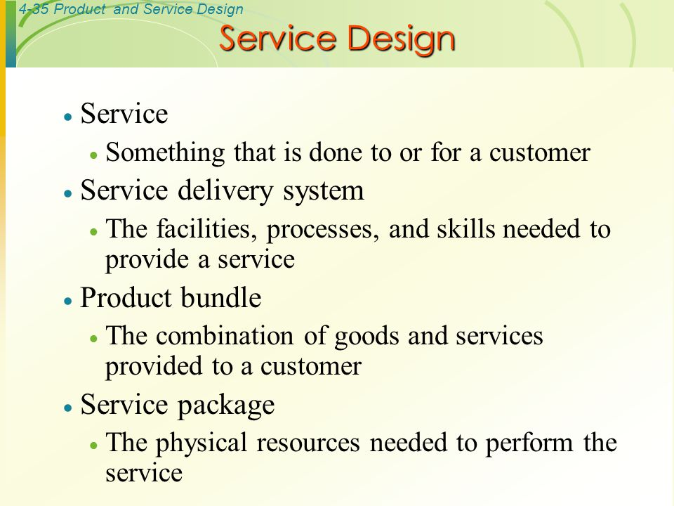 Operations management ppt video online download for Product service design