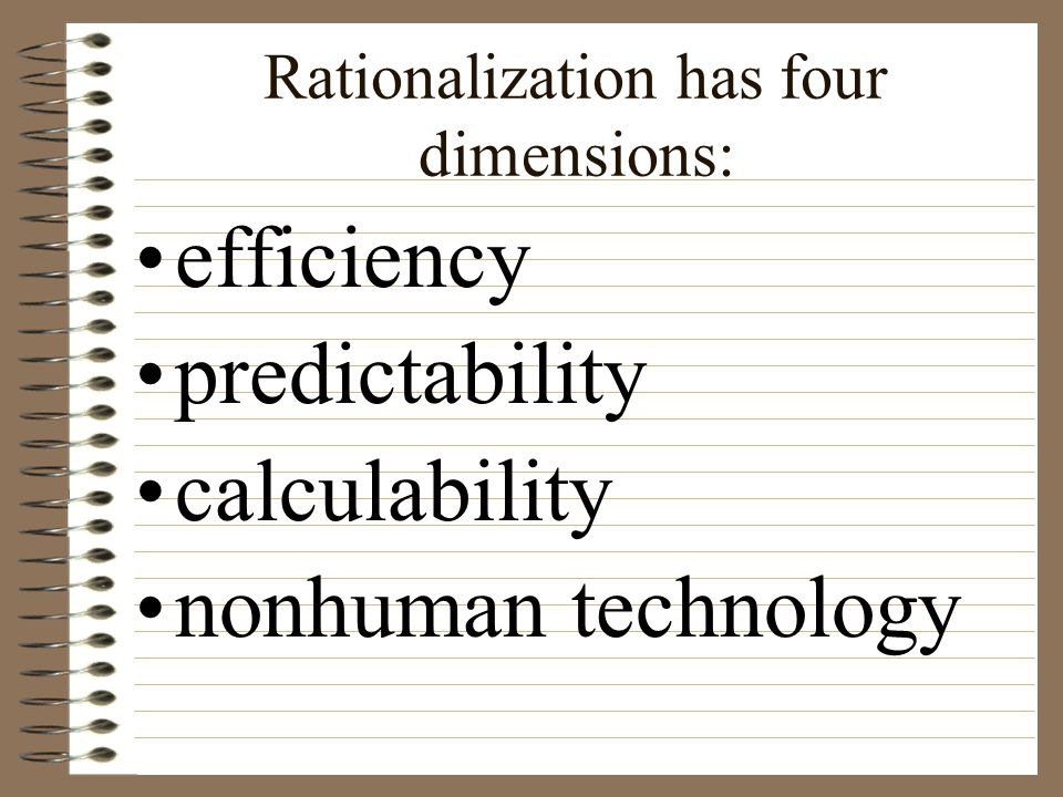 Rationalization has four dimensions: