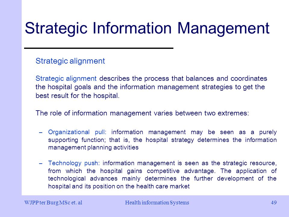 strategic management in hospitals Industrial organizations have employed the process of strategic management in their attempts to cope effectively with global competitive pressures, while attempting to build and maintain competitive advantage with health‐care organizations presently trying to cope with an increasingly turbulent environment created by the.