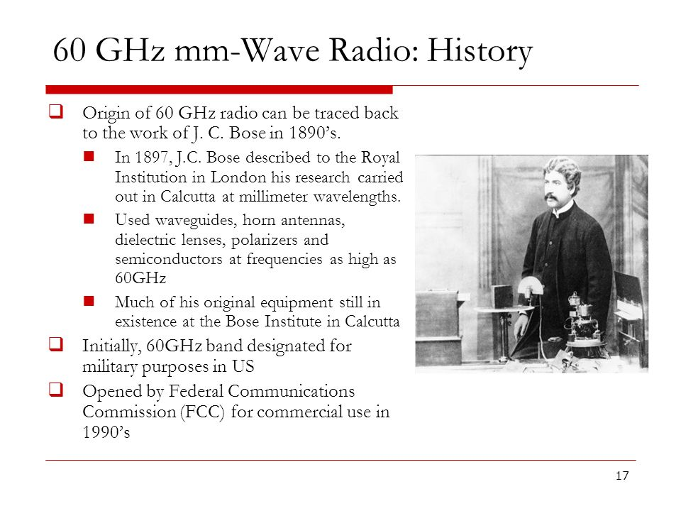60 GHz mm-Wave Radio: History