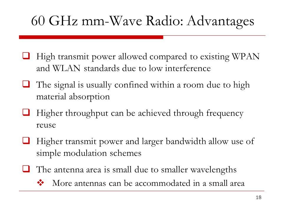 60 GHz mm-Wave Radio: Advantages