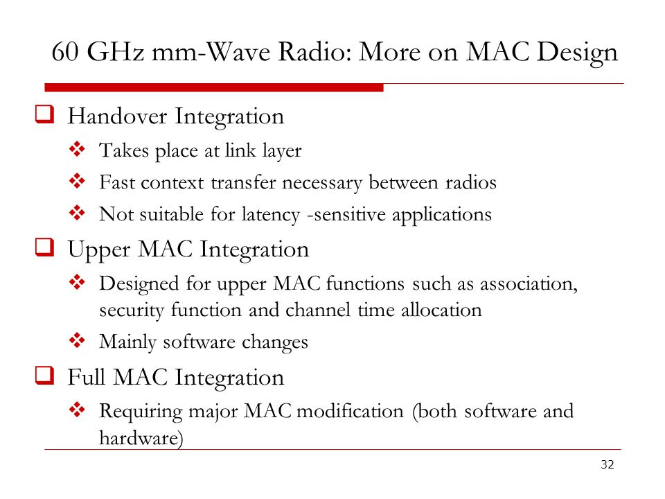 60 GHz mm-Wave Radio: More on MAC Design