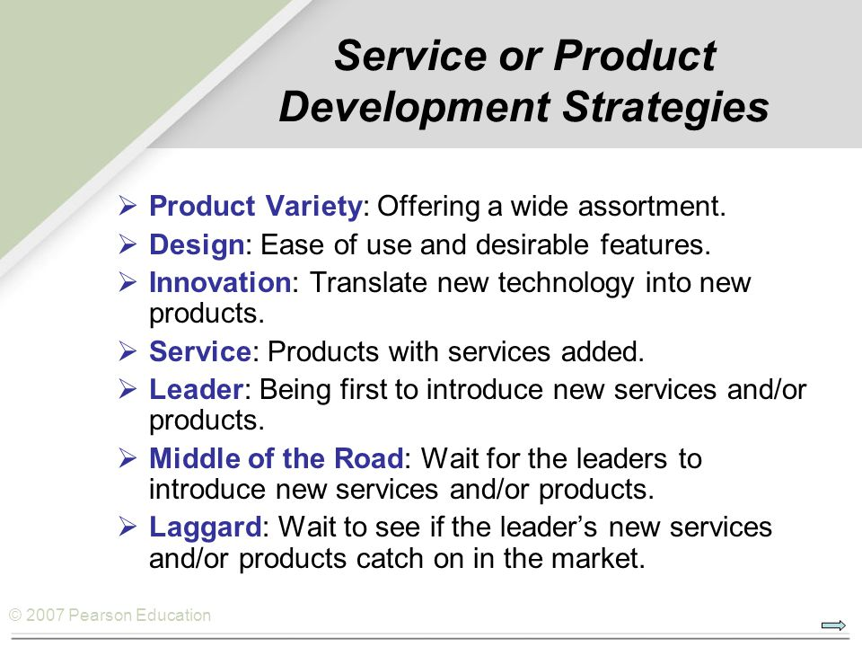 Operations strategy chapter ppt download for Product development services