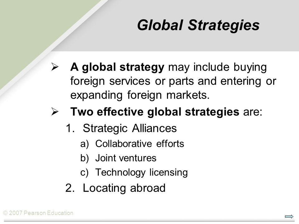 strategic approach to entering foreign markets Foreign market entry mode decisions are typically influenced by company and   engaging in international operations is that of how to enter a foreign market once  it has  foreign market entry strategies: extending the internalization approach.