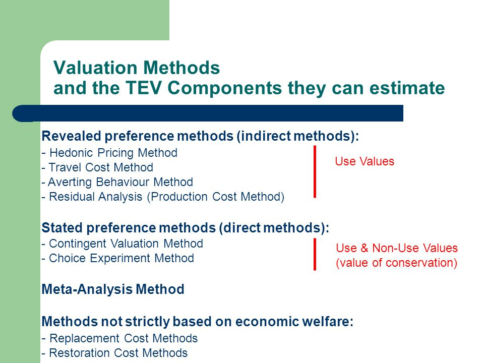 cost and valuation method alternatives The premise of valuation is that we can make reasonable estimates of value for most assets when book value weights are used, the costs of capital tend to be much lower for many us firms, since book equity is lower than market equity.