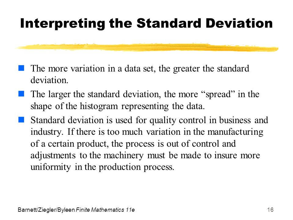 interpreting standard deviation and mean relationship