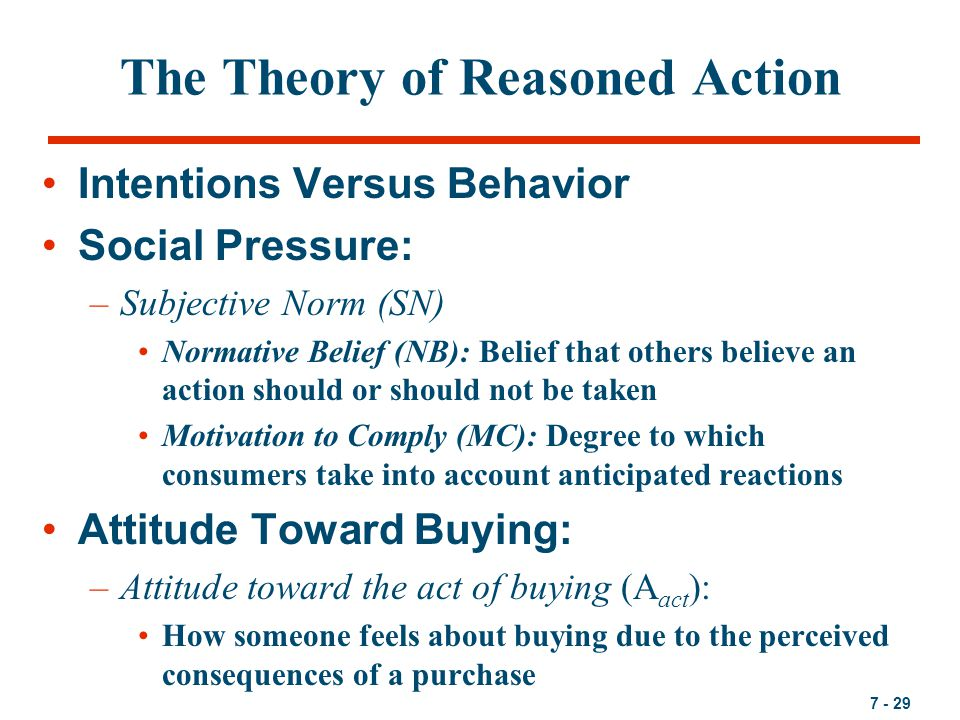 theory of reasoned action Two closely associated theories – the theory of reasoned action and the  theory of planned behavior – suggest that a person's health behavior is  determined.