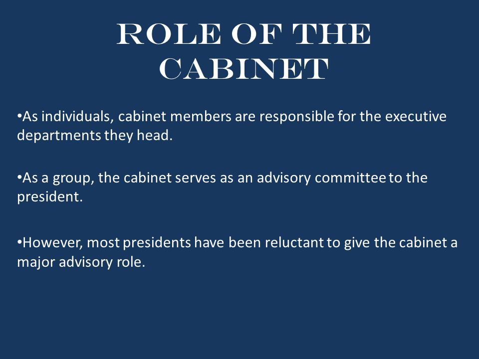 The 15 individuals who Advise the President - ppt download