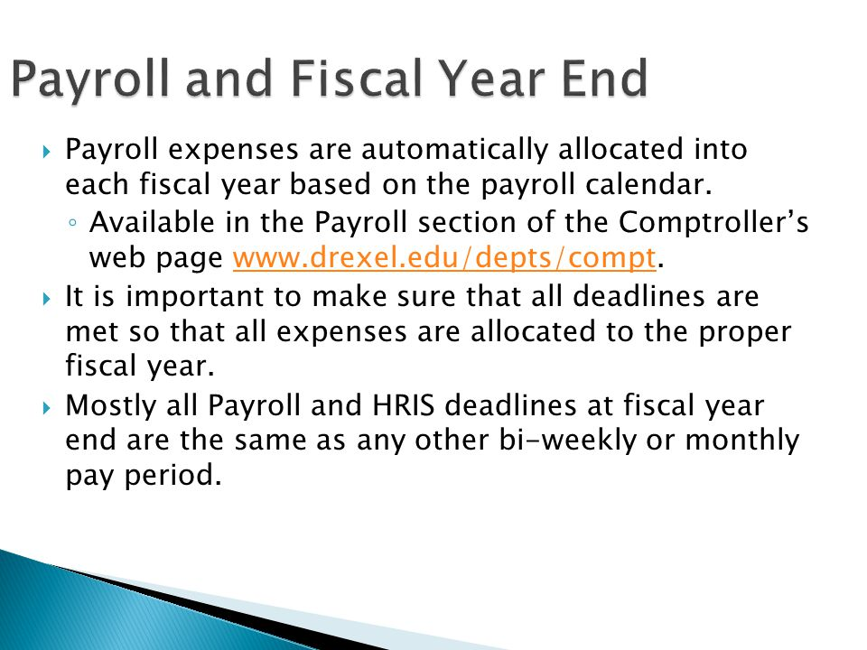 Fiscal Year-End Training - Ppt Download