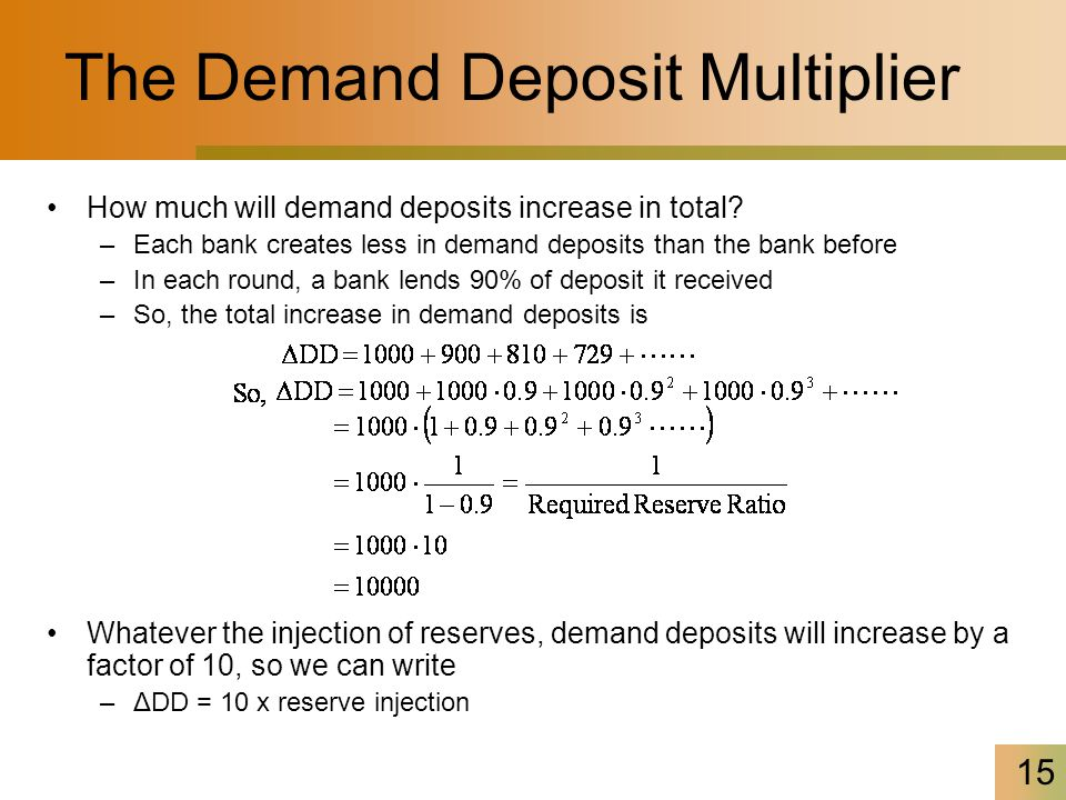 how to calculate the final change in money supply