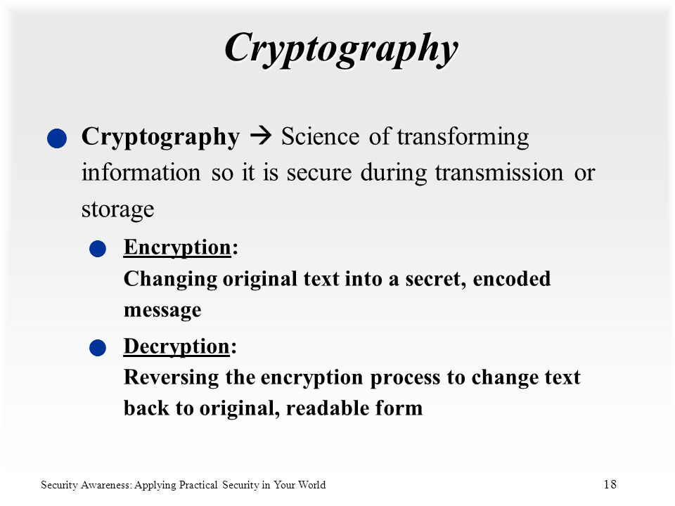cryptography the science of conveying information Journal of theoretical and applied information technology  faculty of information science  it is a study of conveying the information from its normal.