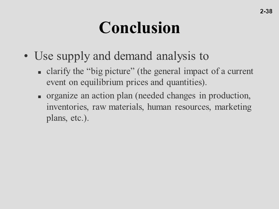 supply and demand essay conclusion