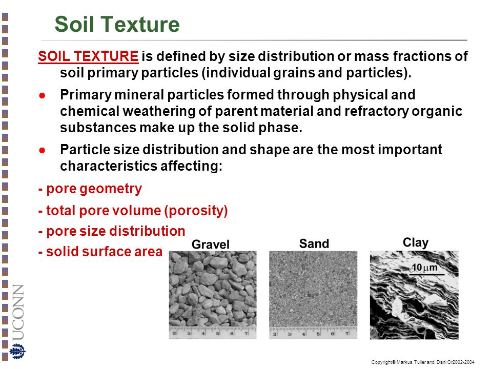 Soil texture particle size distribution and soil for Mineral soil definition