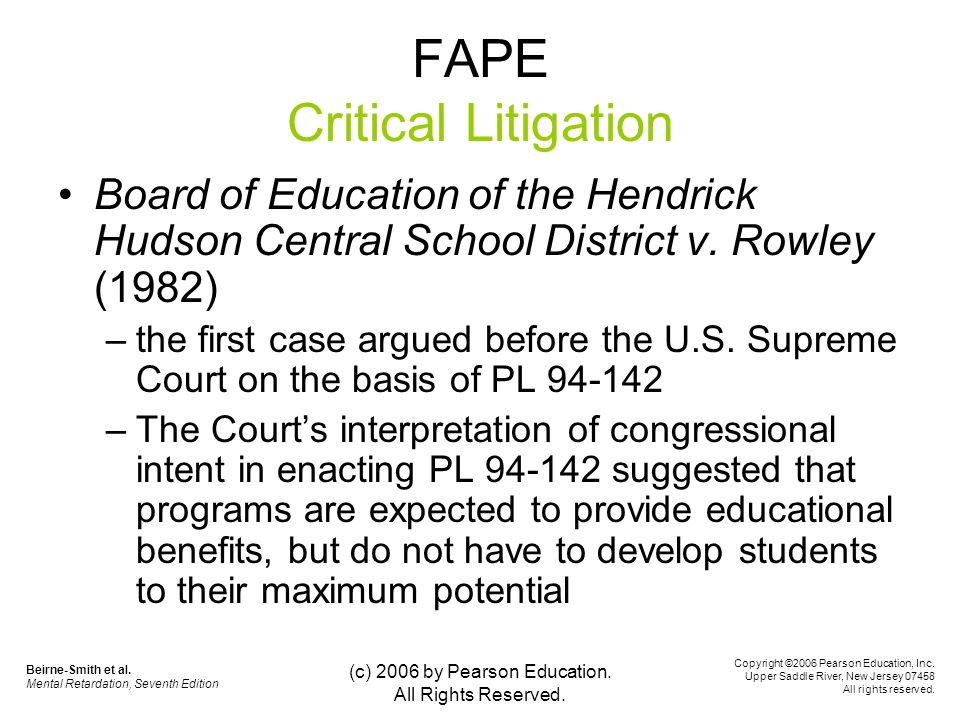 board of education v. rowley conclusion