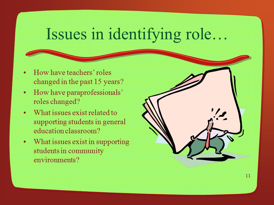 Issues in identifying role…