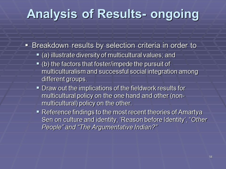 an analysis of the positive and negative aspects of multiculturalism in canada The positive shape of the future has to do almost totally with economic opportunity the negative aspects are  which strives to reflect australian multiculturalism.
