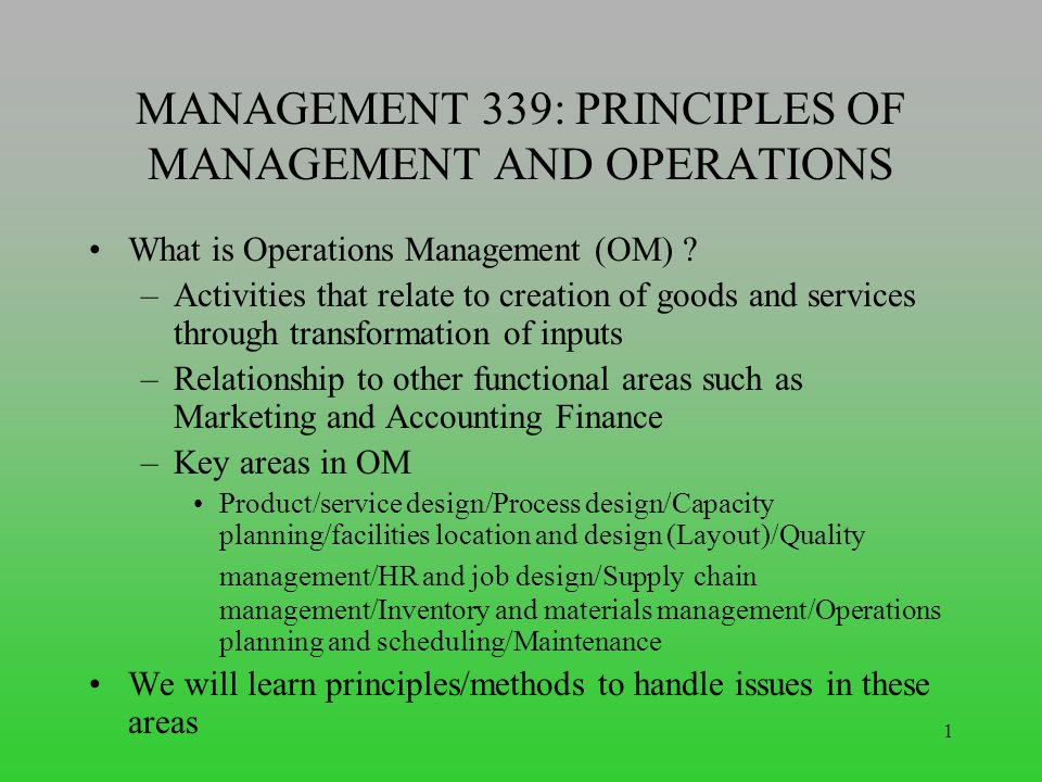 the principles of marketing and relationship management
