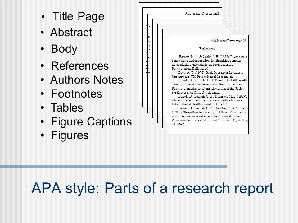 apa report style