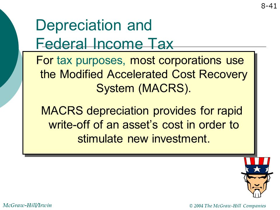 Depreciation and Federal Income Tax