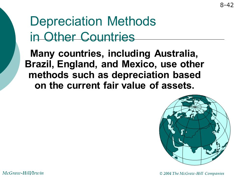 Depreciation Methods in Other Countries