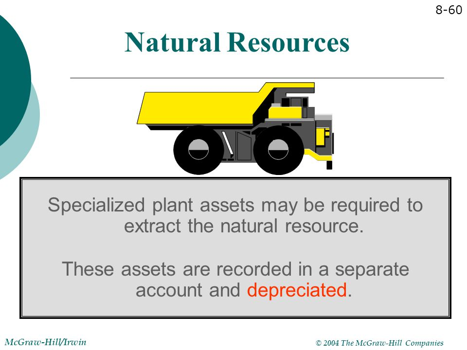 These assets are recorded in a separate account and depreciated.