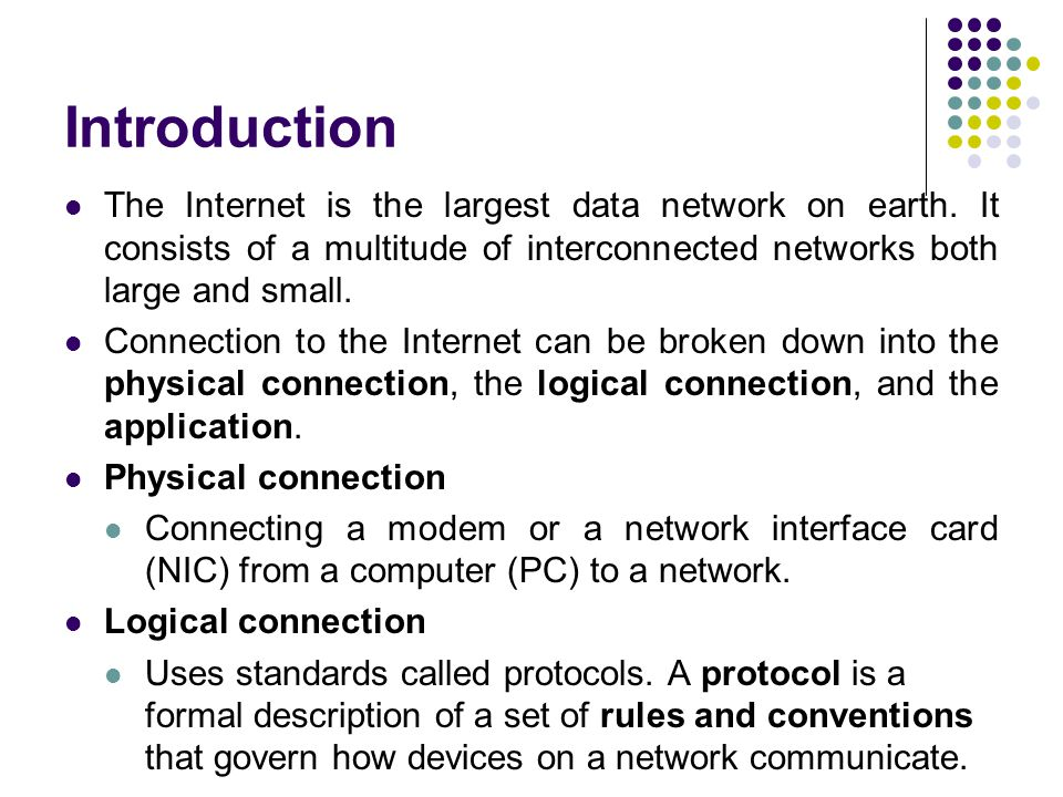 an introduction to the computers internet application and management A basic understanding of networking is important for anyone managing a server   for instance, if you have two network cards in your computer, you can control   some familiar examples of application layer protocols, built on these  the tcp/ ip model, more commonly known as the internet protocol suite,.