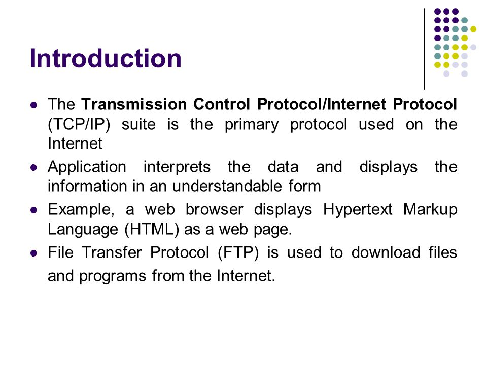 an introduction to the main protocol of the internet Communication protocol definition (udp), hypertext transfer protocol (http), post office protocol (pop3), internet message access protocol (imap).