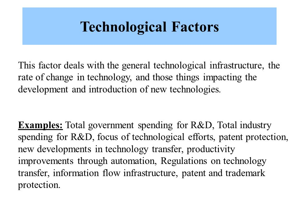 technological factors examples