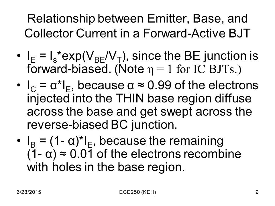 relationship between collector current and base ratings