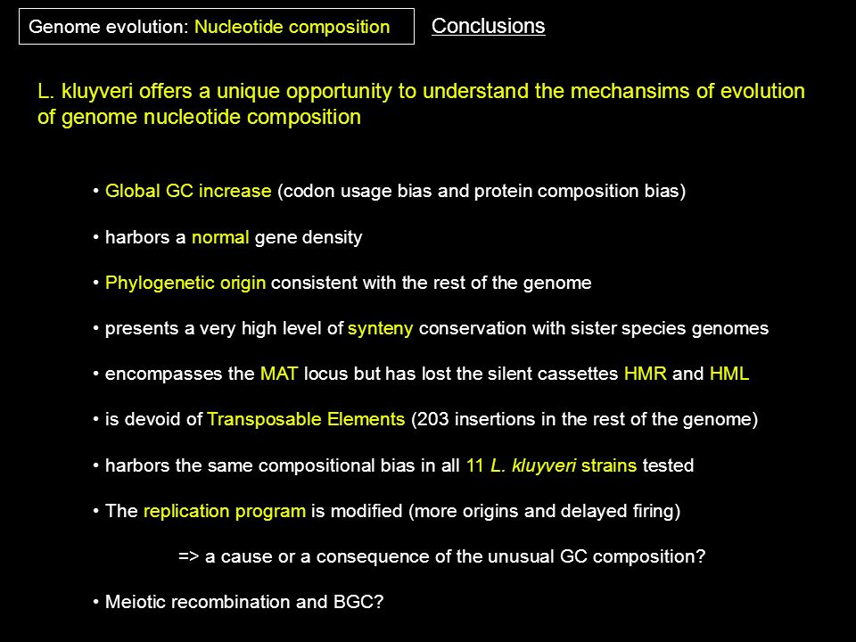 of genome nucleotide composition