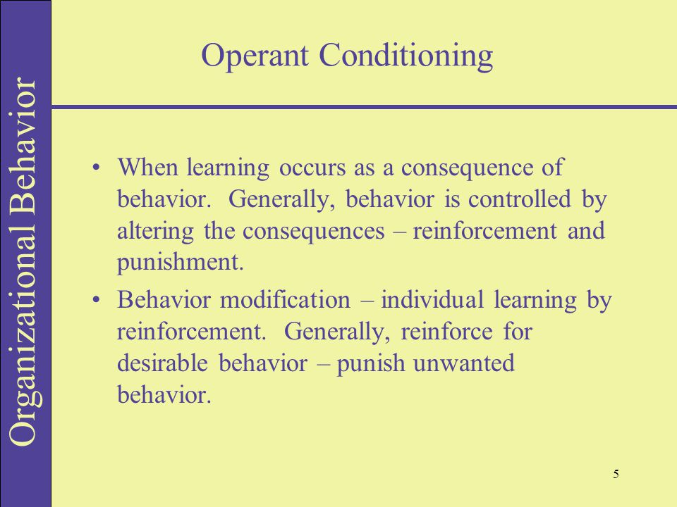 imitation operant conditioning Operant conditioning •imitation-a form of learning where animals learn by observing others title: learning author: windows user.