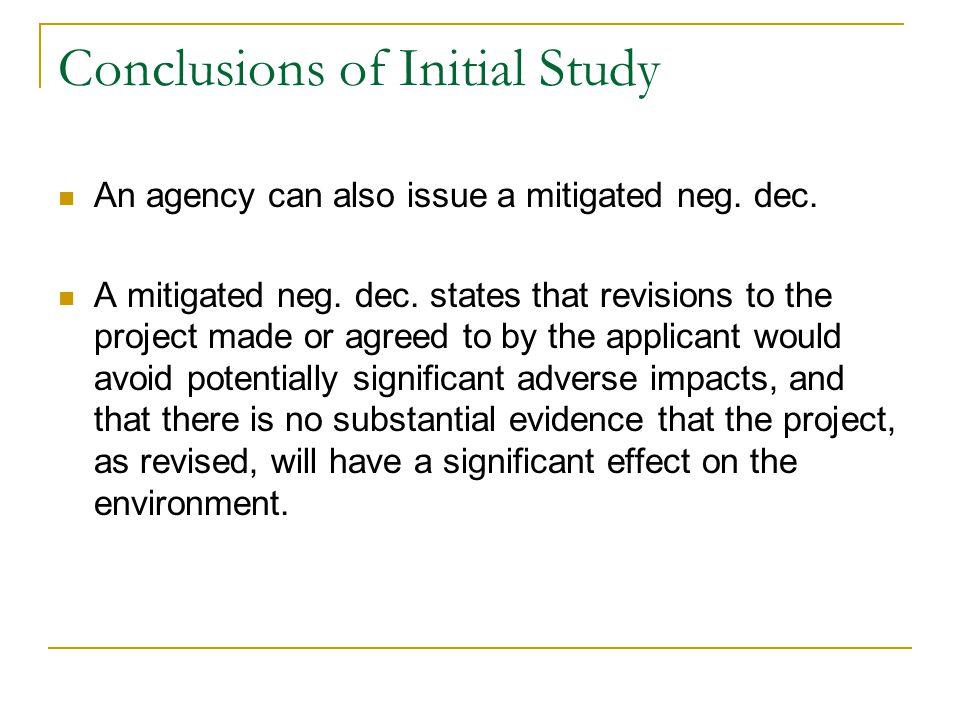 CEQA INITIAL STUDY/MITIGATED NEGATIVE DECLARATION