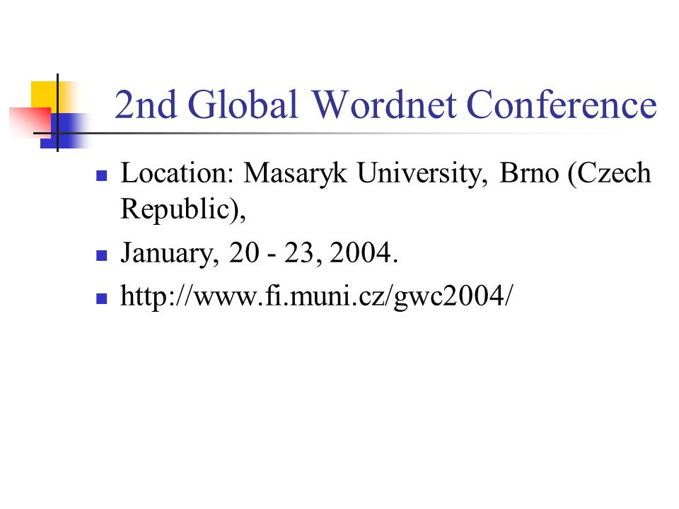 2nd Global Wordnet Conference