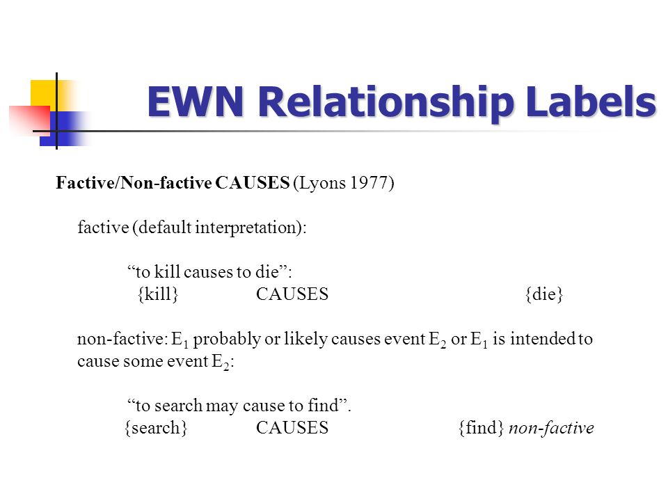 EWN Relationship Labels