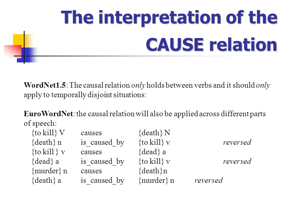 The interpretation of the CAUSE relation