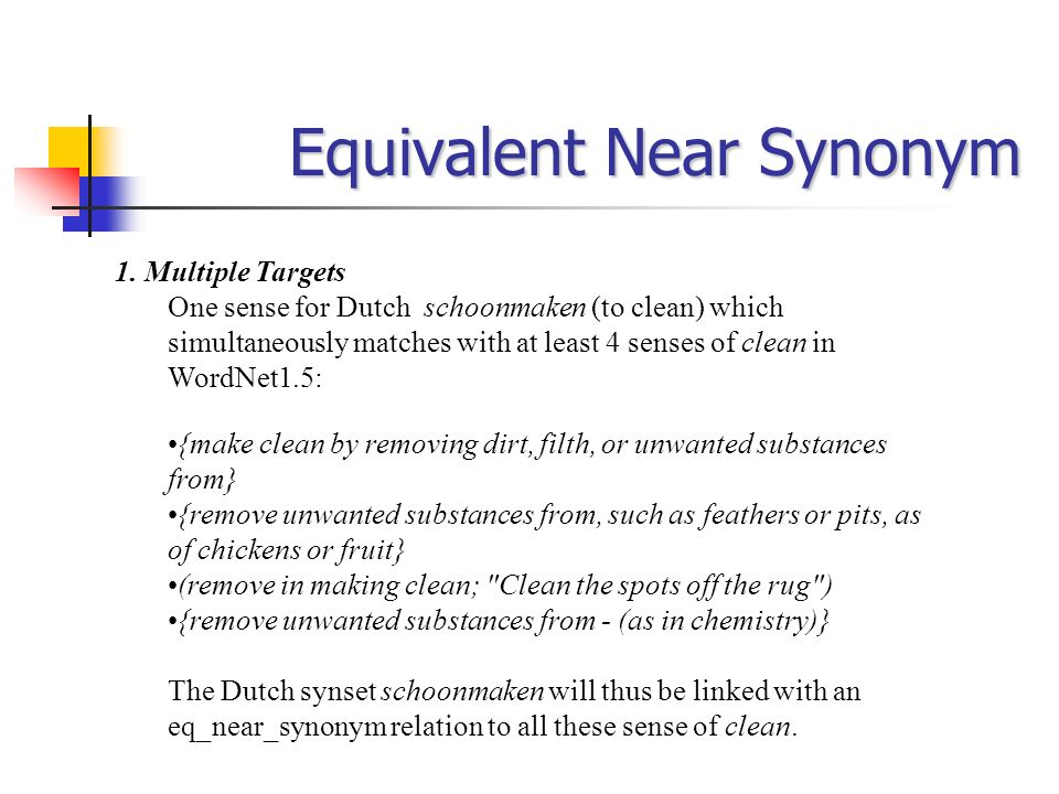 Equivalent Near Synonym