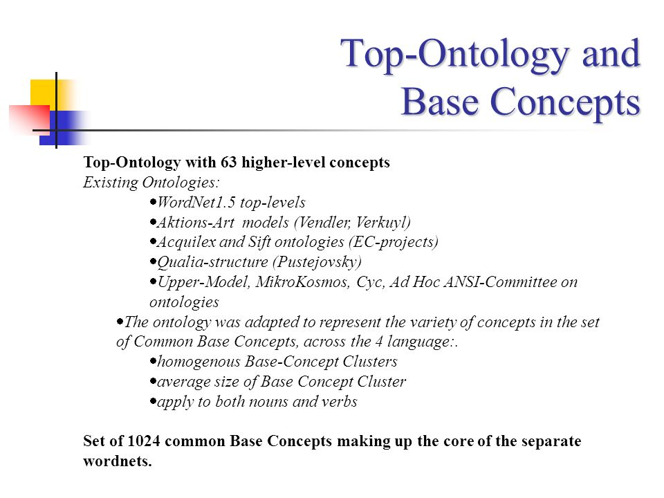 Top-Ontology and Base Concepts