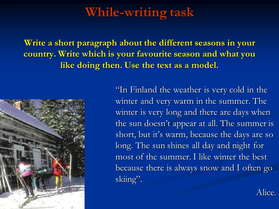 Winter and summer paragraphs College paper Service