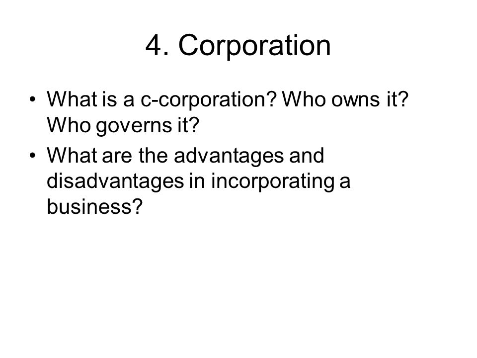 the advantages and disadvantages of incorporating a business Advantages of incorporating or forming an llc incorporating or forming an llc is a great first step in starting your business below we'll discuss some of the.