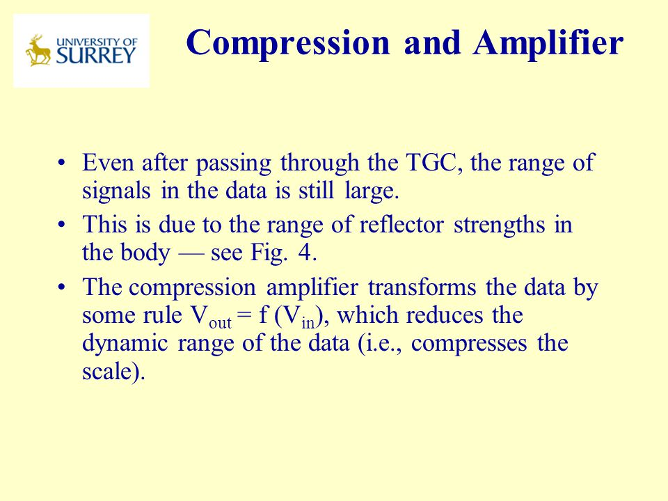 Compression and Amplifier
